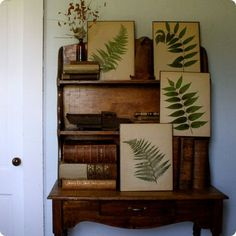 rustic leaves and desk