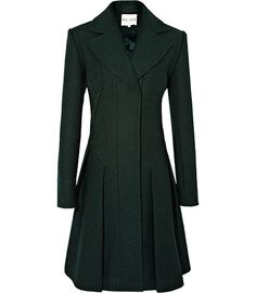 gorgeous hunter green coat from Reiss