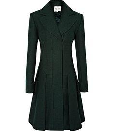gorgeous hunter green coat from Reiss