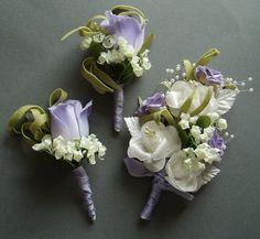 Purple Lilac Boutonniere Corsage Set DESTINATION by WeeGardens, $31.00