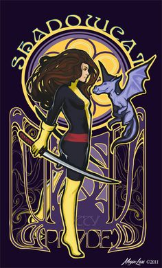 Shadowcat Nouveau by Megan Lara BUY THIS SHIRT: http://www.welovefine.com/product.php?id_product=350