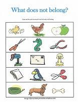 which one doesn 39 t belong free printable worksheets speech language school ideas pinterest. Black Bedroom Furniture Sets. Home Design Ideas