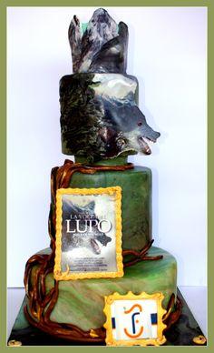 """cake for the film """"la voce del lupo """""""