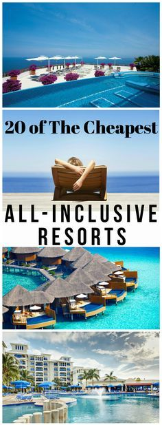 It's Summer forever at these 20 tropical escapes! Have you been getting any sun lately? We did the research: there are never gloomy days at these all-inclusive resorts but always crazy-cheap deals! What's your excuse for not having fun in the sun these d Cheapest All Inclusive Resorts, Caribbean All Inclusive, Cheap All Inclusive Holidays, All Inclusive Vacation Deals, Vacation Trips, Dream Vacations, Vacation Spots, Summer Vacation Ideas, Beach Honeymoon Destinations