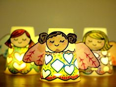 Paper Cup Angel Luminaries | This easy paper craft is perfect for Christmas!