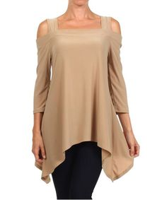 Loving this Coffee Cutout Sidetail Tunic on #zulily! #zulilyfinds