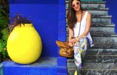 #FASHION Gaelle Bonheur leggins and Sunboo sunglasses