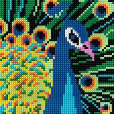 Cross Stitch Pattern Maker, Modern Cross Stitch Patterns, Cross Stitch Designs, Cross Stitch Bird, Cross Stitch Animals, Cross Stitch Embroidery, Cross Stitch Calculator, Tapestry Crochet Patterns, Graph Paper Art