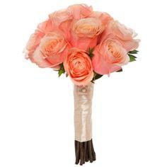Petite Romanza: 12 roses with warm coco peach undertones and champagne hues.   #Venetian #Weddings #VenetianWeddings #Bouquet #Floral #Weddingfloral