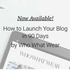 It's here! Learn how to launch, grow, and earn money from your blog in 90 days! We put all of our secrets in this downloadable ebook and it's available NOW! Go to ebook.whowhatwear.com or TAP the link in my profile