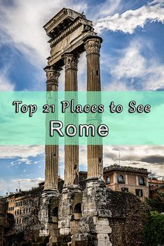 """Rome, the Eternal City is a """"must destination"""" for all travelers. A city with so much history that no other places have. Ruins dating back to the era of the ancient Roman Empire, beautiful Catholic churches in every second corner, and some of the most impressive squares of the world. Herein, we collected the 21 places we think you can't miss out on, when visiting this Rome. Click to read more!"""