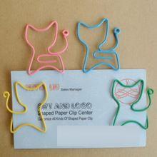 12 pçs/lote gato Forma Clipes De Papel Criativo Interessante Marcador Clip Clip Memo Shaped dos Grampos de Papel para Escritório e…