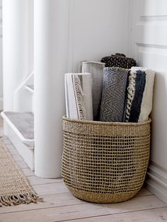 Raffia basket <3 Design by Bloomingville