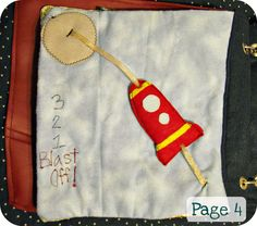 Rocket quiet book page