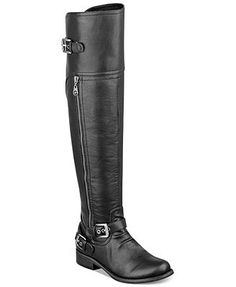 SANTAAA. I've been soooo good. in brown please.  G by GUESS Hektor Over-The-Knee Boots