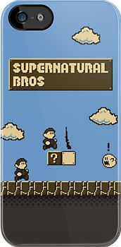Supernatural iPhone case in the style of Mario Bros? WHY DON'T I ALREADY OWN THIS!?!?!?!?!