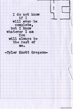 "Tyler Knott Gregson, ""Typewriter Series #616"""
