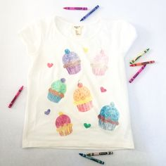 wax crayon sandpaper transfers to t-shirts