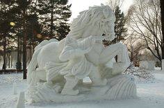 Beautiful and funny snow sculptures photos. Pictures and images which provide good mood Winter Wonder, Winter Fun, Abstract Sculpture, Sculpture Art, Bronze Sculpture, Snow Sculptures, Metal Sculptures, Ice Art, Snow Art