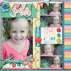 use polka dot paper and stripe paper on the same project