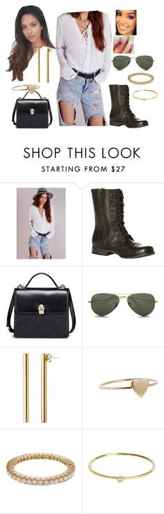 """""""Bez tytułu #17418"""" by sophies18 ❤ liked on Polyvore featuring Steve Madden, Ray-Ban, Jennifer Fisher, Jennifer Meyer Jewelry and Sethi Couture"""