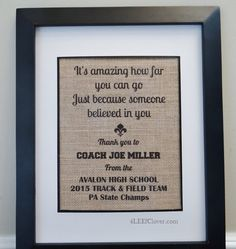 Coach's gift. Personalized print. Team Captain by 4LEEfClover Coach Gifts, Banquet Ideas,