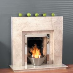 The Virginia is shown in premium Bianco Persiano marble.