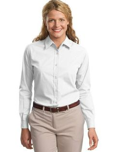 A carefree workshirt you'll actually enjoy wearing, treated with Teflon for stain protection!