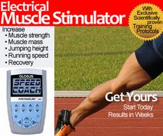Globus SpeedCoach Electrical Muscle Stimulator = unparalleled benefits in terms of running training and recovery, as well as rehab.  Learn the details here.