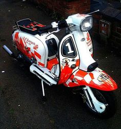Scooter Custom, Mod Scooter, Lambretta Scooter, Scooter Girl, Vespa Scooters, Motor Scooters, Motorbikes, Cars Motorcycles, Bicycle