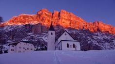 Março 2016: pôr do sol no Vale Alta Badia - #Dolomitas!  #italia #viagens #roteiros