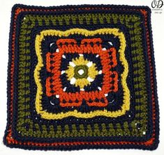 "Persephone's Garden at Night Afghan Square 12"" - Part of the Moogly Afghan CAL 2016 #freepattern #crochet #afghan #blanket"