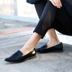 Sadie Pointed Toe Loafers from Boohoo