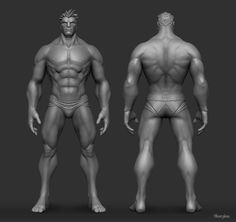 Male Anatomy Study, Yekaterina Bourykina on ArtStation at https://www.artstation.com/artwork/male-anatomy-study-1cdf88f5-fcb5-4087-b4d1-d485e965dedc