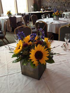 Sunflower Centerpiece- Summer Wedding Celebration