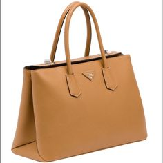 Prada Saffiano Cuir Twin Bag Brand new with tags. Bought at Saks. 100% authentic. Prada Bags Totes