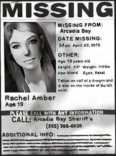 """""""Rachel Amber's Wanted Poster"""" Photographic Prints by scolecite 
