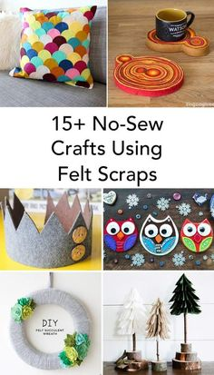 15+ No-Sew Crafts Using Felt Scraps