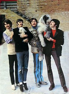 "like who's cooler than the Beatles?  Paul McCartney's dog Martha...the inspiration for ""Martha My Dear""."
