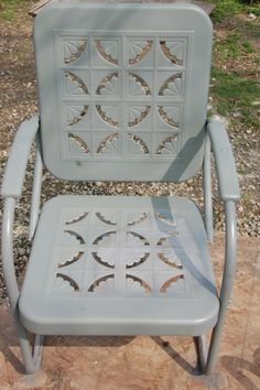 My Vintage Metal Gliders Chairs And Benches Are Getting A New Look