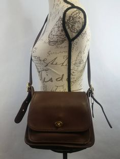 f8201329bdfc Vintage COACH Brown Leather RAMBLER Shoulder Bag Cross Body Bag   9061 made  in USA vintage 1980 s excellent vintage condition.