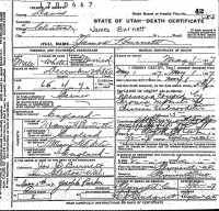 James Burnett b. 1850 d. 1917 in Utah. His parents are listed on the death certificate as James Burnett and Mary White. Why?  I thought his parents were James Burnett and Eliza Clark