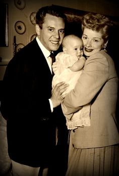 #Desi Arnaz and #Lucille Ball with there son #Desi Jr.