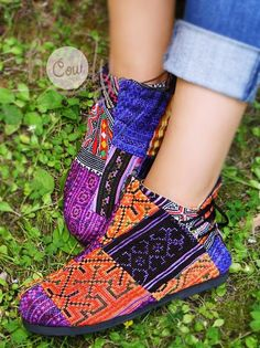 Colorful Women's Tribal Vegan Boots Tribal Boots Vegan