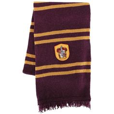 Harry Potter Lamb's Wool Gryffindor House Scarf (€710) ❤ liked on Polyvore featuring accessories, scarves, woolen shawl, wool shawl, wool scarves and woolen scarves