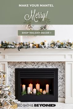 A well-decorated mantel is essential during the holidays. We love this version– it's classic and simple but has a bit of sparkle. Using the same colors throughout makes it easy on the eyes and ties it all together. Ready to get in the spirit? Fireplace Surrounds, Fireplace Design, Woodworking Organization, Woodworking Workbench, Woodworking Workshop, Woodworking Videos, Interior Decorating, Interior Design, Interior Trim