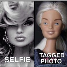 Barbie kinda looks good in both of these... but, #relatable #41Winks