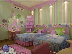 Hello kitty room Outside Play Toys, Girl Room, Girls Bedroom, Hello Kitty Rooms, Pajama Party, Beautiful Bedrooms, Furniture Decor, Playroom, Toddler Bed