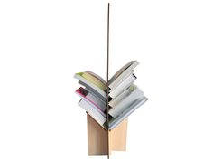 Bookcases – Modern bookshelf, wood magazine rack – a unique product by Lexio_shop on DaWanda