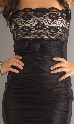 strapless cocktail dress...I WANT!!